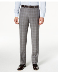 Shaquille Oneill Collection Classic Fit Blue And Grey Glen Plaid Dress Pants