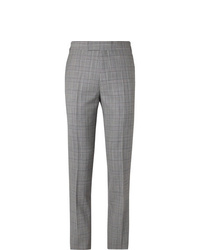 Kingsman Slim Fit Houndstooth Wool Blend Suit Trousers