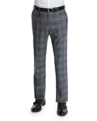 Standard fit plaid flannel trousers gray medium 403634