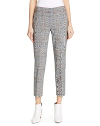 Lewit Windowpane Plaid Stretch Wool Pants