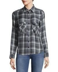 Plaid button down shirt medium 6870228