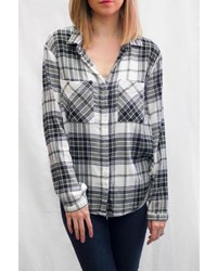 Plaid button down shirt medium 6870230