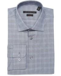 John Varvatos Star Usa Soho Slim Fit Stretch Plaid Dress Shirt