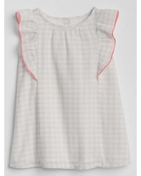 Gap Gingham Flutter Dress