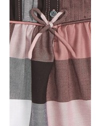 Burberry Infant Girls Emalie Check Cotton Flannel Dress