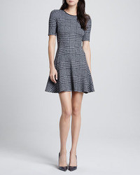 Theory Nikay Drop Skirt Plaid Dress
