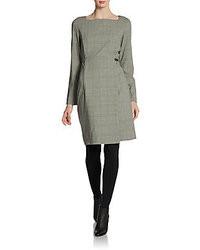 Piazza sempione plaid squareneck dress medium 9455