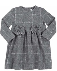 Il Gufo Plaid Piqu Knit Cotton Dress