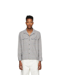 Noah NYC Grey Flannel Plaid Shirt