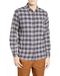 Hurley Ranger Plaid Cotton Flannel Sport Shirt