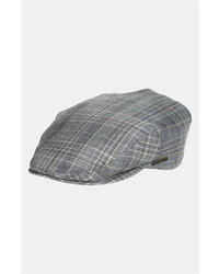 Grey Plaid Flat Cap