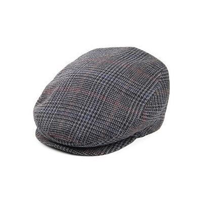 3b68816ff5624 ... Plaid Flat Caps Jaxon Hats Savio Check Flat Cap Black Grey