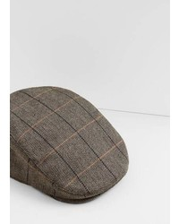 Mango Outlet Prince Of Wales Flat Cap