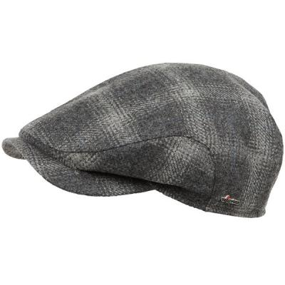 Wigens Wool Plaid Cap Ear Flaps Light Grey 942f86e5b04