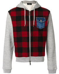 DSQUARED2 Check Zipped Hoodie