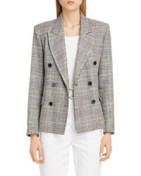 Isabel Marant Plaid Linen Double Breasted Jacket
