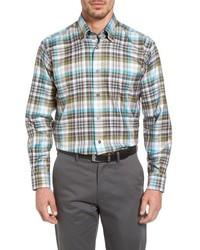 Anderson classic fit plaid sport shirt medium 816139