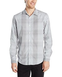 Calvin Klein Long Sleeve Graphic Plaidshirt