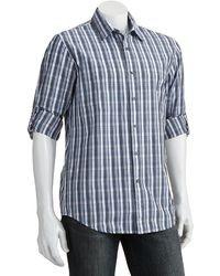 Apt. 9 Modern Fit Plaid Roll Tab Casual Button Down Shirt
