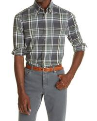 Brunello Cucinelli Slim Fit Madras Plaid Shirt