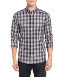 Wind blown extra trim fit plaid oxford sport shirt medium 816194