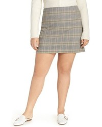 1 STATE Wear Plaid Miniskirt
