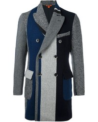 Barena Striped Double Breasted Coat