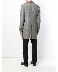 Tagliatore Checked Single Breasted Coat