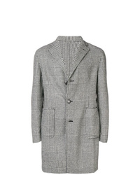 Tagliatore Checked Single Breasted Coat