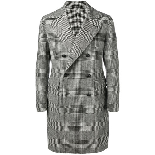 Tagliatore Glen Plaid Midi Coat