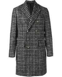 Hevo Plaid Double Breasted Coat