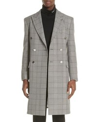 Calvin Klein 205W39nyc Plaid Overcoat