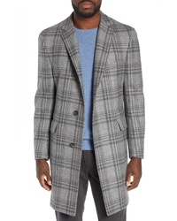 Hickey Freeman Plaid Wool Overcoat