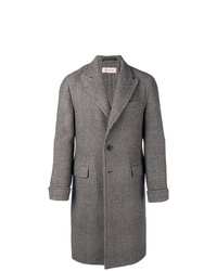 Caruso Single Breasted Check Coat