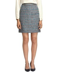 Brooks brothers plaid pencil skirt medium 75375