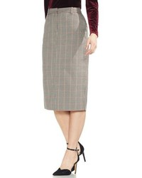 Vince Camuto Country Check Pencil Skirt