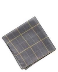 Hugo Boss T Pocket Square Italian Silk Pocket Square One Size Grey