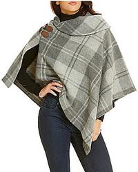 Lauren Ralph Lauren Oversized Check Bridle Poncho