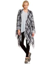Eileen Fisher Soft Wool Plaid Poncho