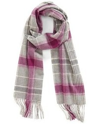 Grey Plaid Scarf