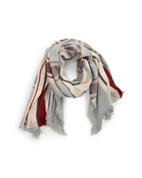BP. Center Stripe Plaid Scarf