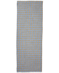 Devon cashmere plaid scarf gray medium 609428