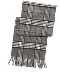 Black Brown 1826 Grey And Black Plaid Scarf