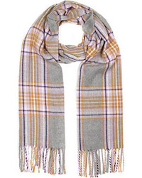 River Island Grey Plaid Check Scarf