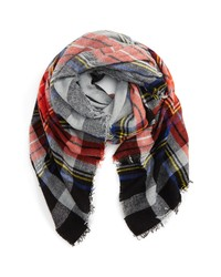 BP. La Double 7 Contrast Plaid Square Scarf