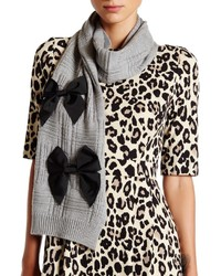 Kate Spade New York Plaid Stitch Wool Muffler