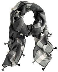 Plaid tassel scarf medium 105162