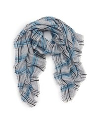 Sole Society Plaid Wool Blend Scarf