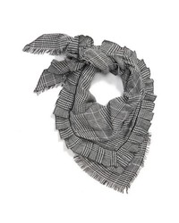 BP. Ruffle Plaid Triangle Scarf