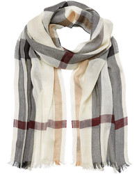 Burberry Shoes Accessories Silk Cashmere Check Scarf